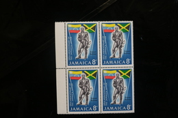 Jamaica 258 Bolivar Statue Letter Block 4 MNH 1964 A04s - Jamaica (1962-...)