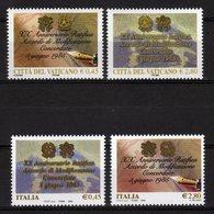 2005 Emissione Congiunta Joint Issue Italia Vaticano Concordato 4 Stamps MNH - Emissioni Congiunte