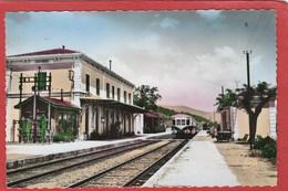 CPSM: Cuers (63) - La Gare - - Cuers