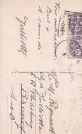 2xTimbres 10 C.violet Type BLANC S/ Carte Postale ARCACHON (33) Hôtel Des Pins Et Continental - Used Stamps