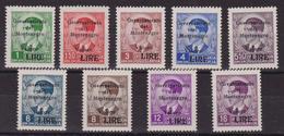 421 ** Montenegro 1942 – F.lli Di Jugoslavia Soprastampati N. 40/48. Cert. Biondi. Cat. € 1250,00. SPL - Montenegro