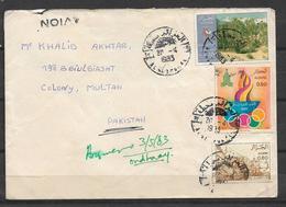 USED AIR MAIL COVER ALGERIA TO PAKISTAN - Algerien (1962-...)