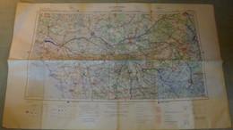 Carte Aérienne I.G.N. : NANTES / TOURS - 1 / 250 000ème - 1971. - Cartes