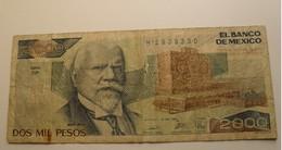 1989 - Mexique - Mexico - 2000 PESOS, Mexico . D.F. Série DP, H 2938330 - México