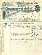 BELGIQUE.NINOVE.MANUFACTURE DE FIL DE LIN & DE COTON A COUDRE.VANDENBOSSCHE & DE BODT. - Textile & Clothing