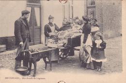 180/ Bruxelles, Marchande De Legumes, Hondenkar - Petits Métiers