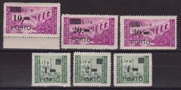 429 ** Istria E Litorale Sloveno 1946 – Soprastampati PORTO N. 8/13 - MNH - Occup. Iugoslava: Litorale Sloveno