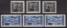 430 ** Istria E Litorale Sloveno 1946 – Soprastampati PORTO N. 14/19 - MNH - Occup. Iugoslava: Litorale Sloveno