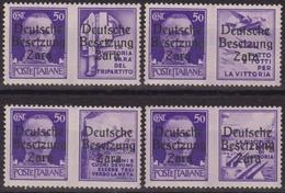 431 ** Zara 1943 – F.lli Di Propaganda N. 20/23. Cert. Biondi. SPL - Occup. Tedesca: Zara