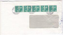 Svizzera Switzerland Suisse Helvetia 1960 Cover Strip Of 5 Stamps - Storia Postale