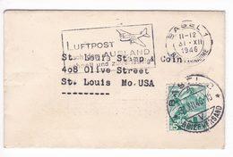 Svizzera Switzerland Suisse Helvetia 1946 Air Mail Cover - Storia Postale
