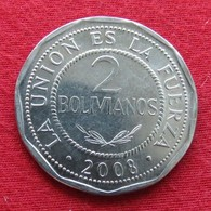 Bolivia 2 Bolivianos 2008 KM# 206.2 *V2   Bolivie - Bolivia