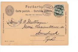 Svizzera Switzerland Suisse Helvetia 1906 Postal Stationery Bahnhof Carte Postale - Interi Postali