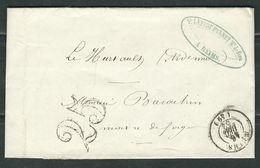FRANCE 1852 Marque Postale Taxée De Reims - 1849-1876: Période Classique