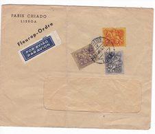 Portugal Portogallo 1957 Air Mail Postal Cover Por Aviao - Storia Postale