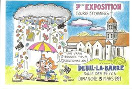 BARBEROUSSE  ILLUSTRATEUR SALON CARTOPHILE DEUIL LA BARRE 1991  PARAPLUIE - Barberousse
