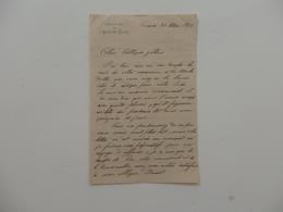 Lettre De La Rédaction De L'écho Des Alpes à Genève (Suisse). - 1800 – 1899