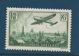 Timbre France Neuf**,  N°8 Poste Aérienne Yt, 1936, Avion Survolant Paris - Poste Aérienne