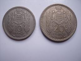 MONACO  = 2 PIECES DE 10 + 20 FRANCS - Monaco