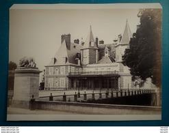 03 VICHY (Environs)  CHATEAU RANDAN Rare Photographie Claudius Couton ? - 19e S. - Albuminée Collée / Carton 20 X 13,7cm - Photos