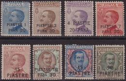 442 ** Costantinopoli 1923 – Soprastampati N. 68/75. Cert. Biondi. MNH - 11. Uffici Postali All'estero
