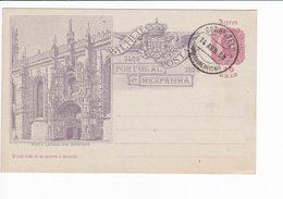 Portugal Azores 1898 Postal Stationery Porta Lateral Jeronymos Angra Do Heroísmo - Interi Postali