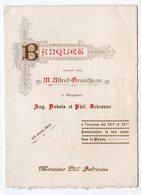 MENU De Banquet - GRANDJEAN - DUBOIS - BEBRONNE - 1910 - Imprimerie Vinche, VERVIERS - Menus