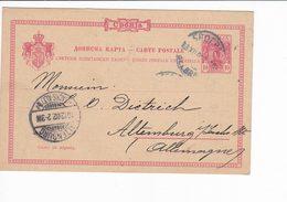 Serbia 1903 Postal Stationery 10 Pa Belgrade --> Altenburg - Serbia