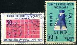 TURKEY 1960 - Mi. 1776-77 O, The Census - 1921-... Republik