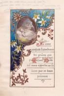 Ancienne Image Pieuse Religieuse 1893 Fait Peint Main - Religion & Esotérisme