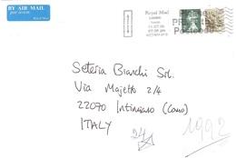 LETTERA X ITALY - 1952-.... (Elisabetta II)