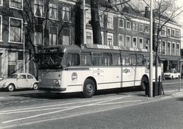 Bus AEC-Verheul, HTM 558, Den Haag Turfmarkt 1968, SVA - Auto's