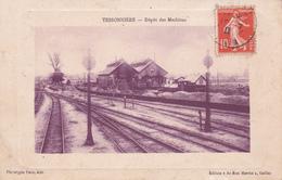 CPA (81) TESSONNIERE La Gare Dépôt Des Machines (2 Scans) - Andere Gemeenten