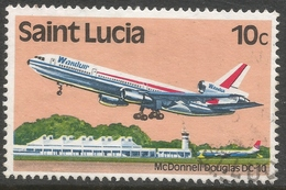 St Lucia. 1980 Transport. 10c Used. SG 538 - St.Lucia (1979-...)