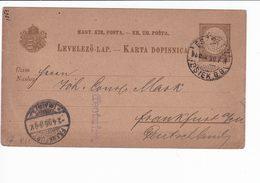 Ungheria Hungary Postal Stationery 1895 Levelezo Lap. Essek Oberstadt - Interi Postali