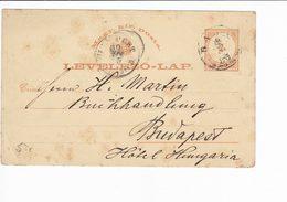 Ungheria Hungary Postal Stationery 1880 Levelezo Lap. Baja - Interi Postali