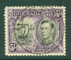 Grenada: 1938/50   KGVI     SG162      5/-    [Perf: 12½]   Used - Grenada (...-1974)
