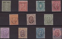 502 ** Eritrea 1893 – Soprastampati Colonia Eritrea N. 1/11. Cert. Sottoriva. Cat. € 5740,00. SPL - Eritrea