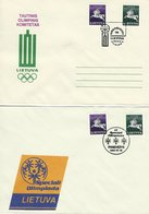 """Lithuania -  2 """" Olympic Covers""""  H-1585 - Olympic Games"""