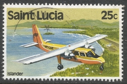 St Lucia. 1980 Transport. 25c Used. SG 541 - St.Lucia (1979-...)