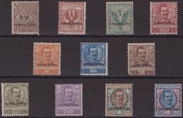 503 Eritrea ** 1903 – Soprastampati Colonia Eritrea N. 19/29. Cert. Sottoriva. Cat. € 3750,00. SPL - Eritrea