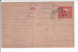 Cecoslovacchia Czechoslovakia 1920 Postal Stationery - Interi Postali