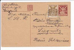 Cecoslovacchia Czechoslovakia 1921 Postal Stationery Lednice Na Moravě Liegnitz - Interi Postali