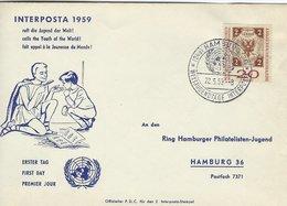 Interposta 1959. Fdc. Hamburg Weltjugendtage Interposta.   H-1586 - Stamp's Day