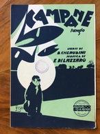 GRAFICA EDITORIALE 1931 SPARTITO MUSICALE CAMPANE  Di CHERUBINI-DILAZZARO  DIS.  NISA  ED. C.A.BIXIO MILANO - Volksmusik