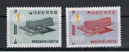 COREA  DEL  SUD:  1966  SEGGIO  SANITA'  -  S. CPL. 2  VAL. N. -  YV/TELL. 410/11 - Corea Del Sud
