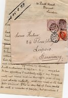 GB 1881/87: 1/2 D Julil. Issue + Pair Of 1 D Lilac Die II (16 Dots), Used On Cover In 1899 (+related Letter, S. Scan) - 1840-1901 (Victoria)