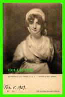 CÉLÉBRITÉS, ARTISTES - SARAH SIDDONS (1755-1831) - COMÉDIENNE - LAWRENCE (SIR THOMAS ) - THE NATIONAL GALLERY - WRITTEN - Artistes
