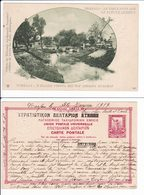 Ellas Greece Grecia Postal Stationery Trikkala 1919 Upu 10 3 Scan - Interi Postali