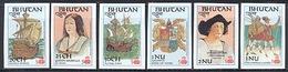 Bhutan 584-589 Imperf, Columbus Series, Neuf** Sans Charniere, Mint NH - Bhoutan